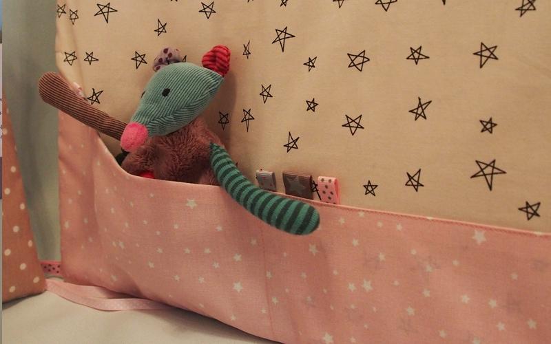 Tour de lit poche à doudou Lou & tralala
