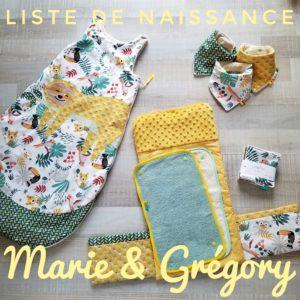 Liste de naissance Marie et Grégory - Lou & tralala
